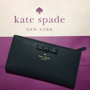 NWT Kate Spade Wallet in a dark teal